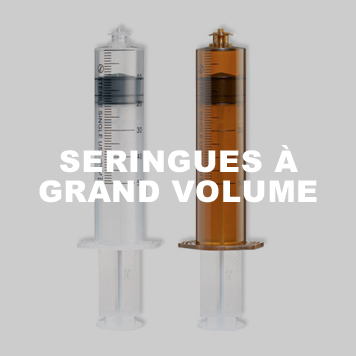 Seringues à grand volume